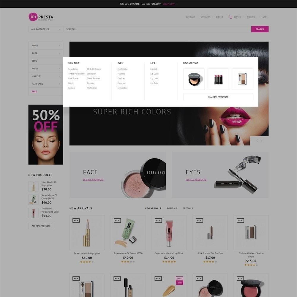 theme - Salute & Bellezza - Impresta - per Un Sito di Negozio di Cosmetici - 5