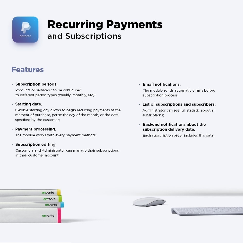 module - Paiement récurrent (abonnement) - Recurring Payments and Subscriptions - 1