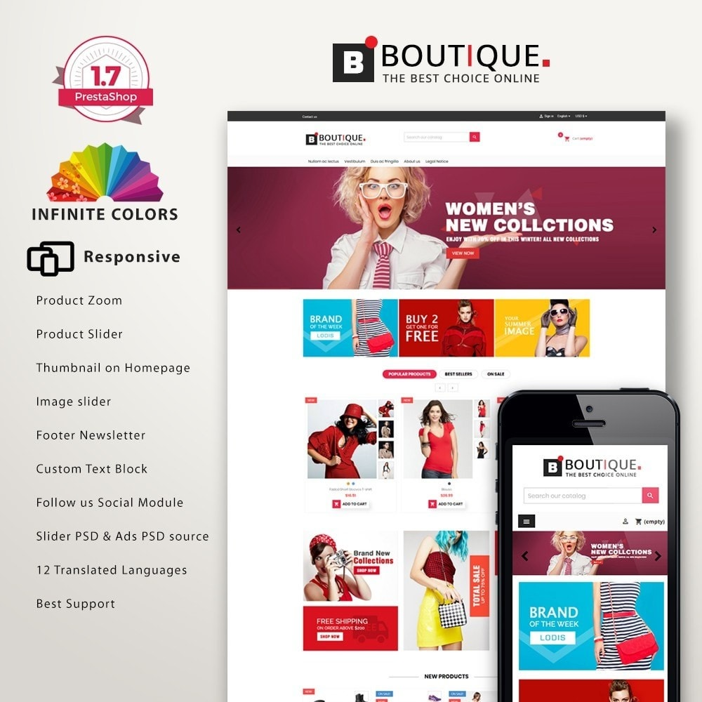 theme - Fashion & Shoes - Boutique Fashion Mutlipurpose Premium DFX006 - 1
