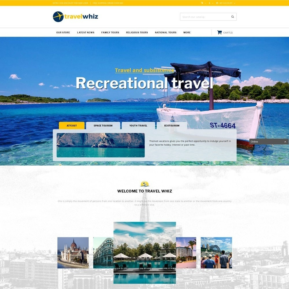 theme - Sport, Aktivitäten & Reise - Travelwhiz - The Travel Website - 2