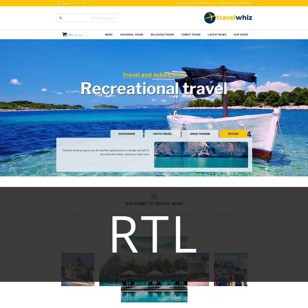 theme - Sport, Activiteiten & Reizen - Travelwhiz - The Travel Website - 3
