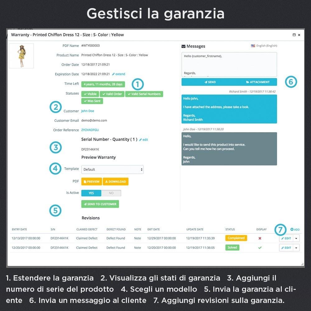 module - Gestione Ordini - Garanzia del Prodotto Pro - 9