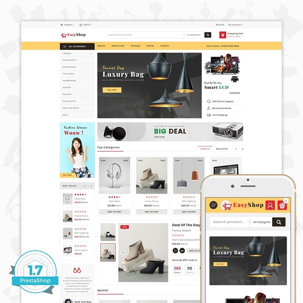 theme - Electrónica e High Tech - Easy shop - The Mega Ecommerce Store - 1