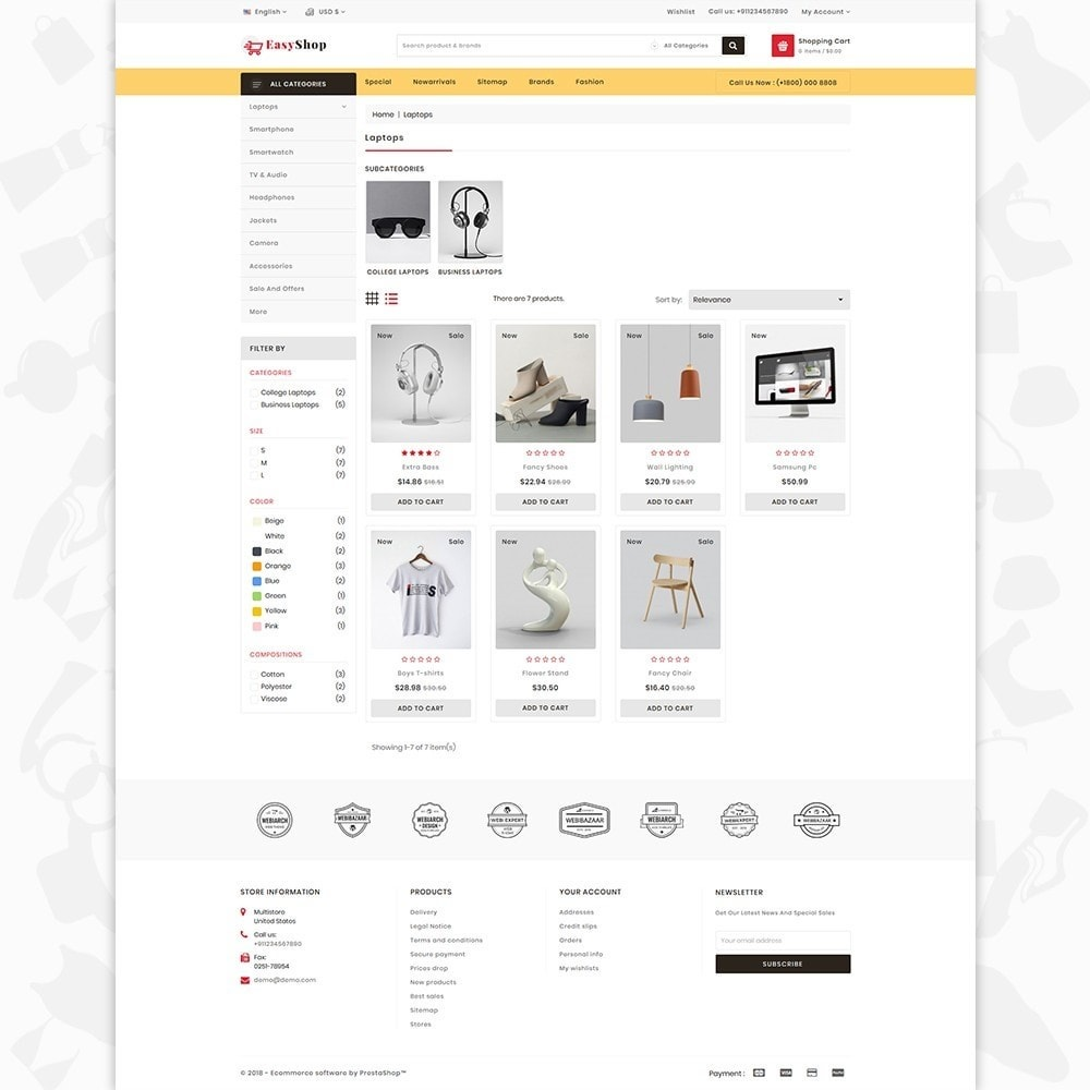 Easy shop - The Mega Ecommerce Store