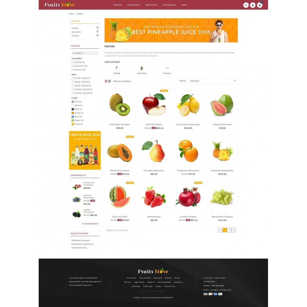 theme - Alimentos & Restaurantes - Fruits Store - 3