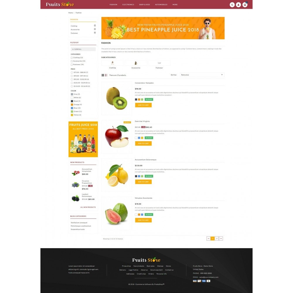 theme - Alimentos & Restaurantes - Fruits Store - 4