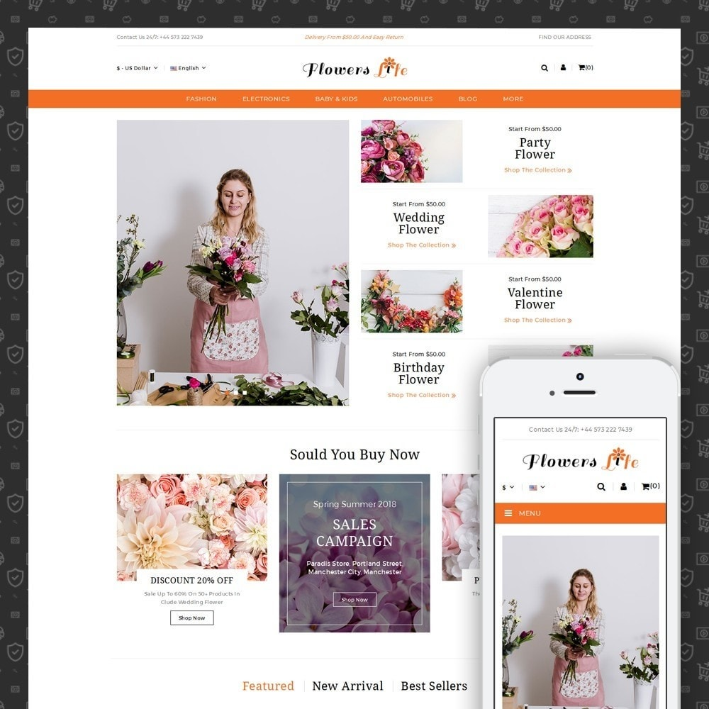 theme - Gifts, Flowers & Celebrations - Flowers Store - 1