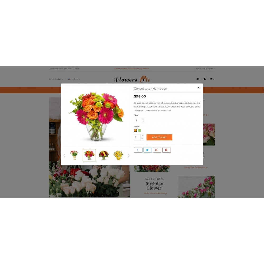 theme - Gifts, Flowers & Celebrations - Flowers Store - 7