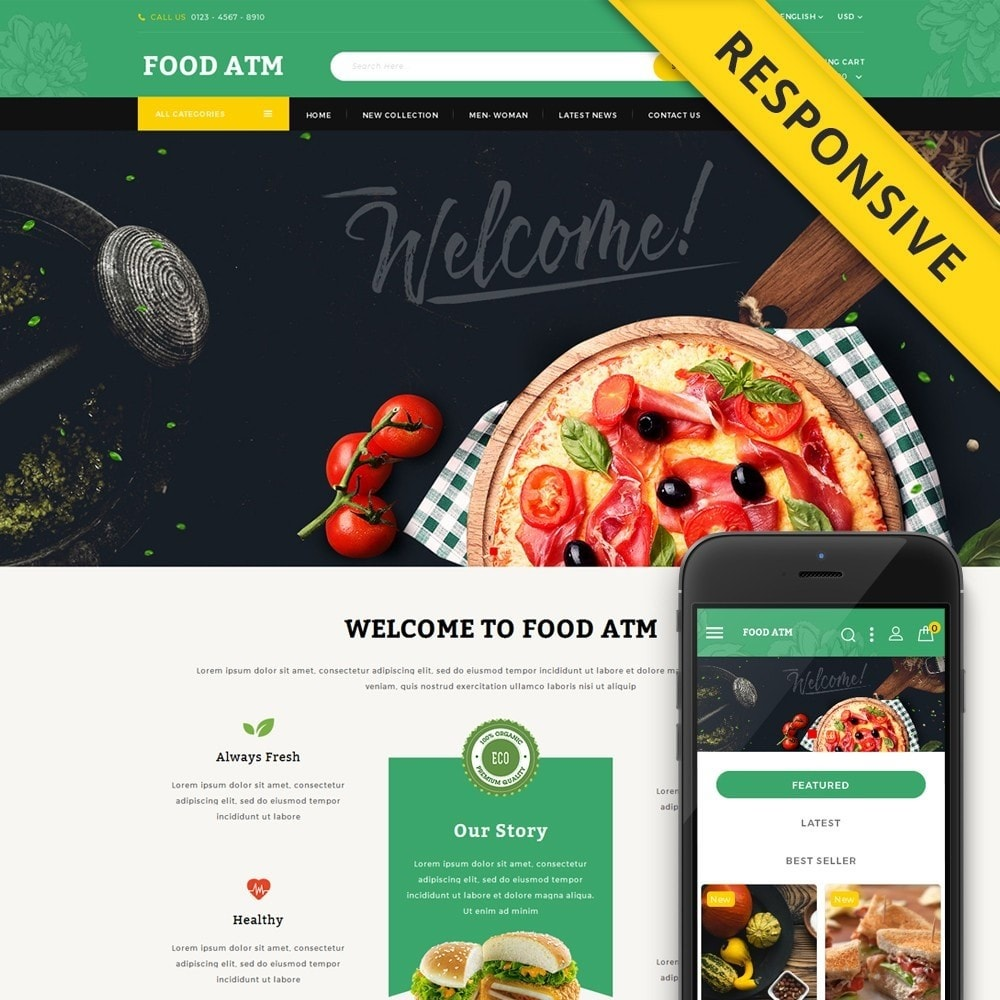 theme - Lebensmittel & Restaurants - Food ATM - Restaurant Store - 1