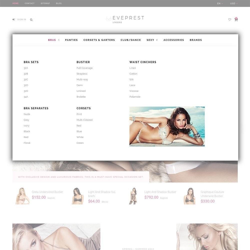 theme - Lingerie & Adulte - EvePrest - Lingerie Store - 4