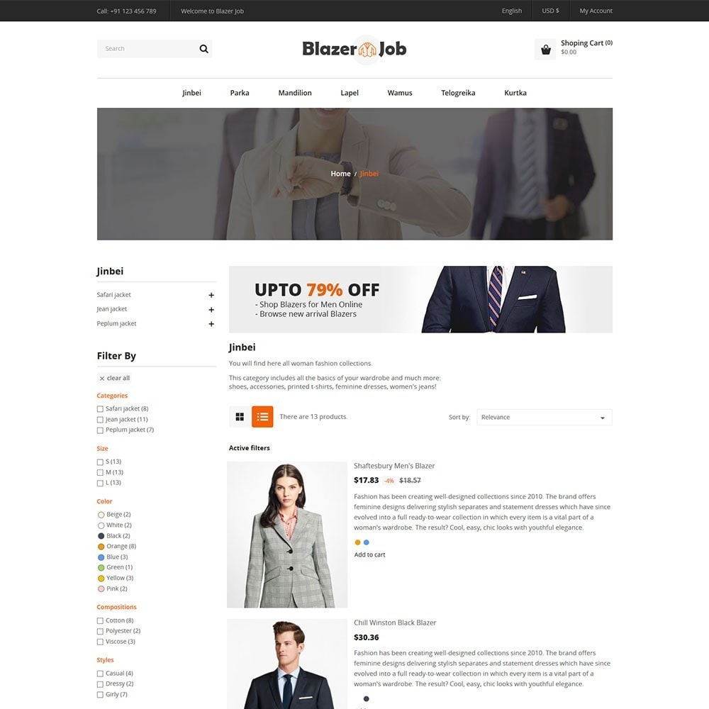 theme - Мода и обувь - Blazerjob Fashion Store - 4