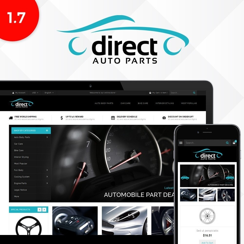 theme - Auto & Moto - Direct AutoPart Store - 1