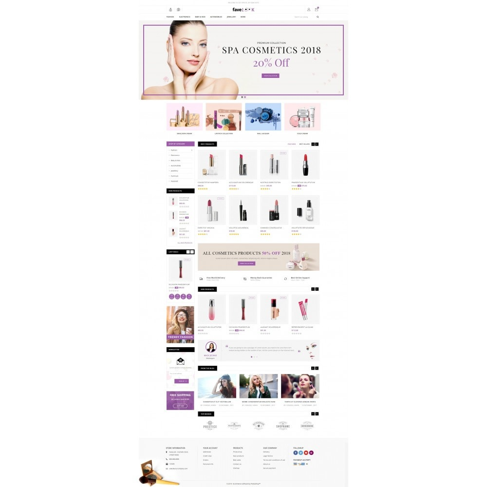 theme - Health & Beauty - Fave Look - Cosmetic Store - 2