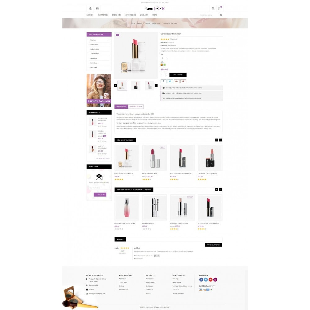 theme - Health & Beauty - Fave Look - Cosmetic Store - 5