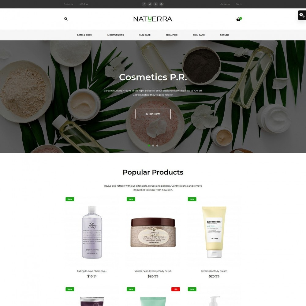 theme - Health & Beauty - Natuerra Cosmetics - 2