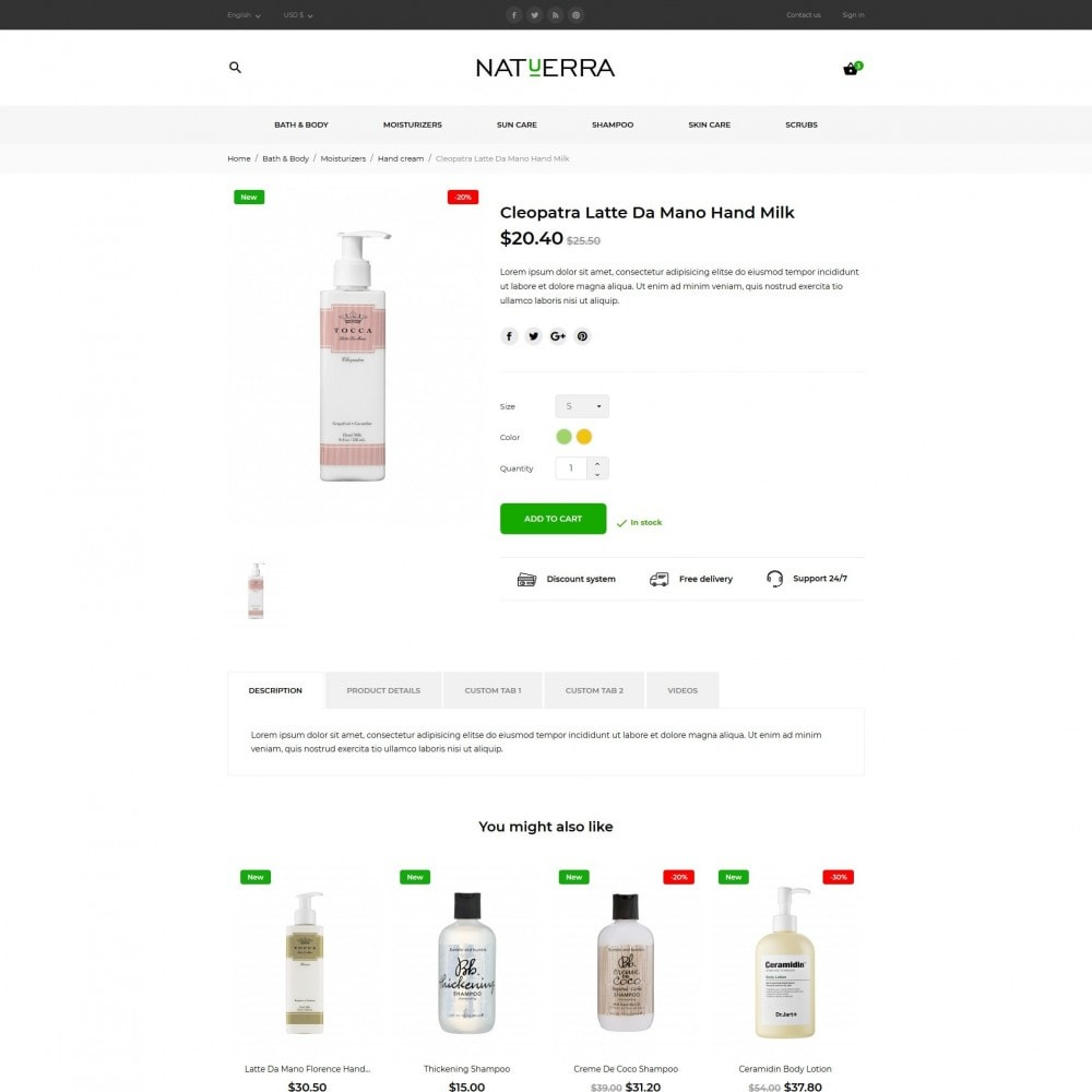 theme - Health & Beauty - Natuerra Cosmetics - 8