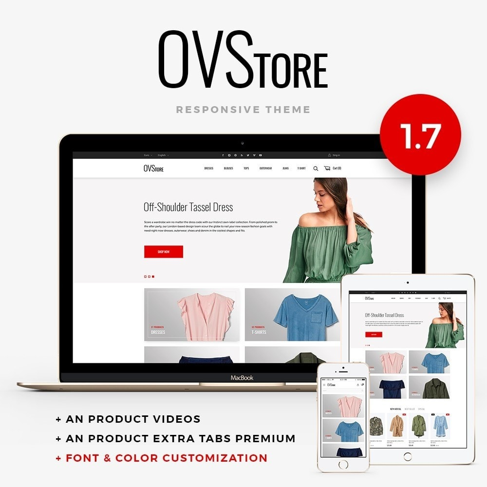 theme - Fashion & Shoes - OVStore Fashion Store - 1