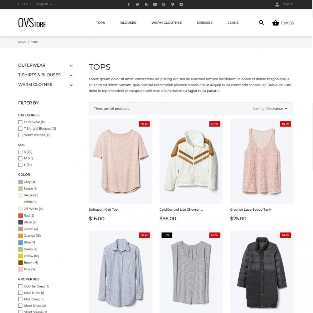 theme - Fashion & Shoes - OVStore Fashion Store - 5
