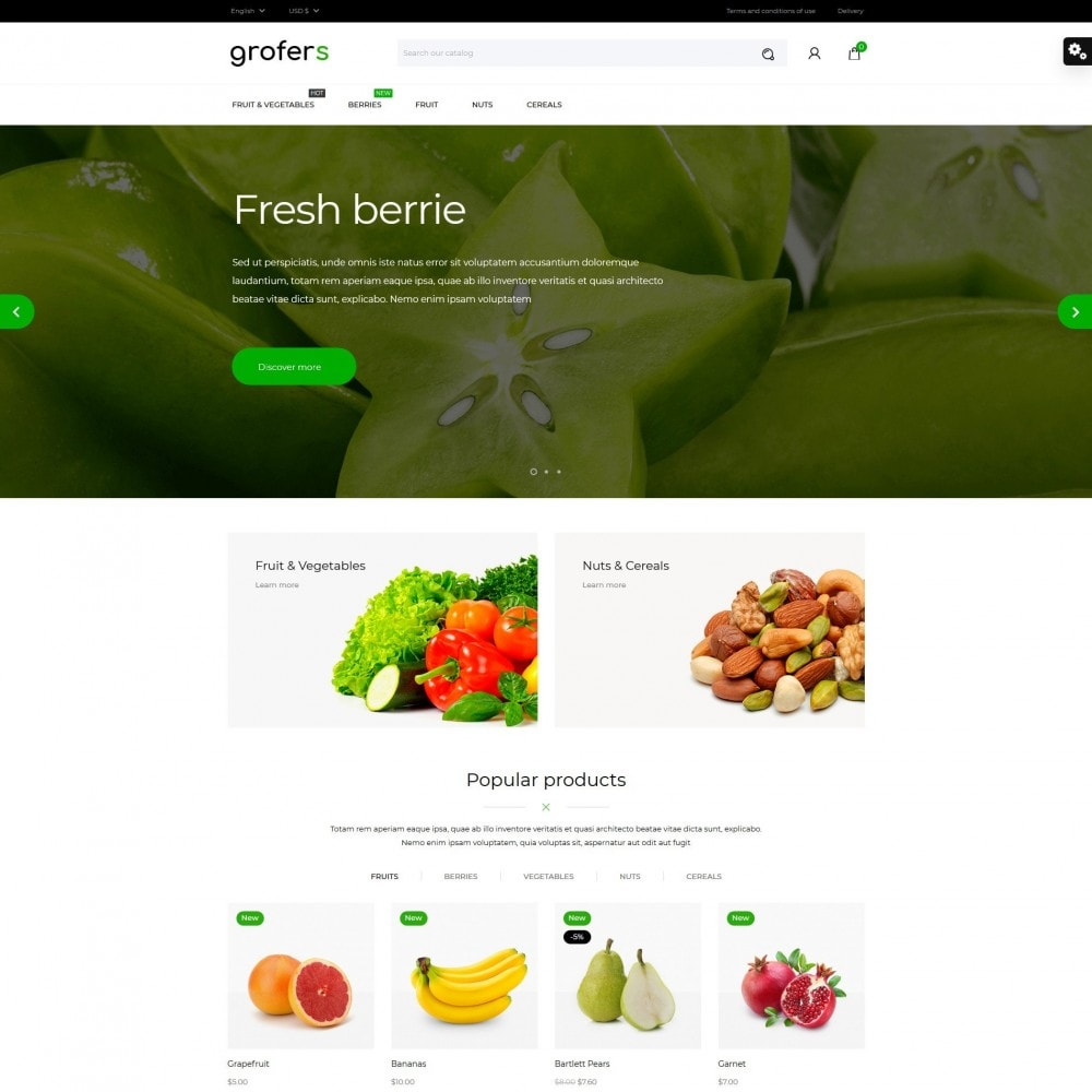 theme - Food & Restaurant - Grofers - 2