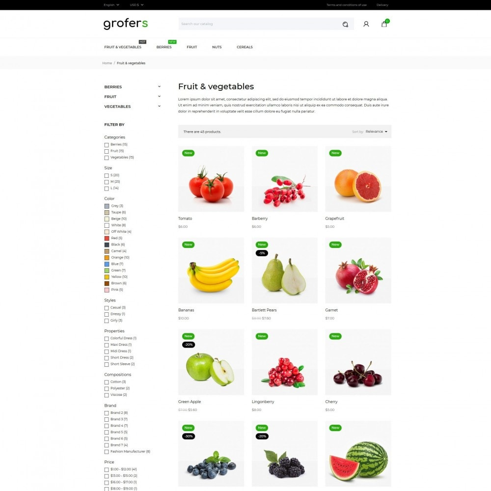 theme - Food & Restaurant - Grofers - 5