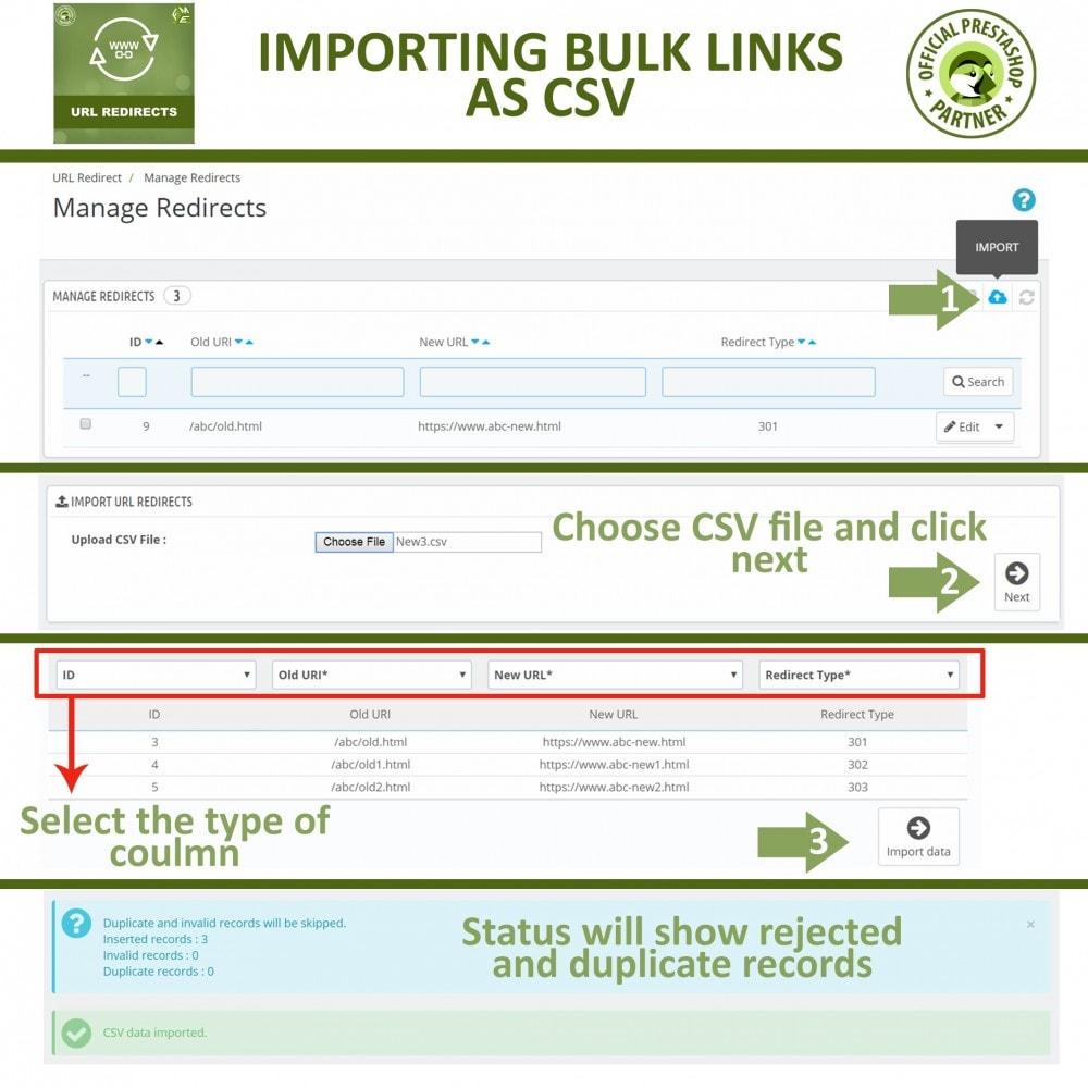 module - Управления адресами URL и перенаправлением - URL Redirects - 301, 302, 303 redirects & 404 URLs - 5