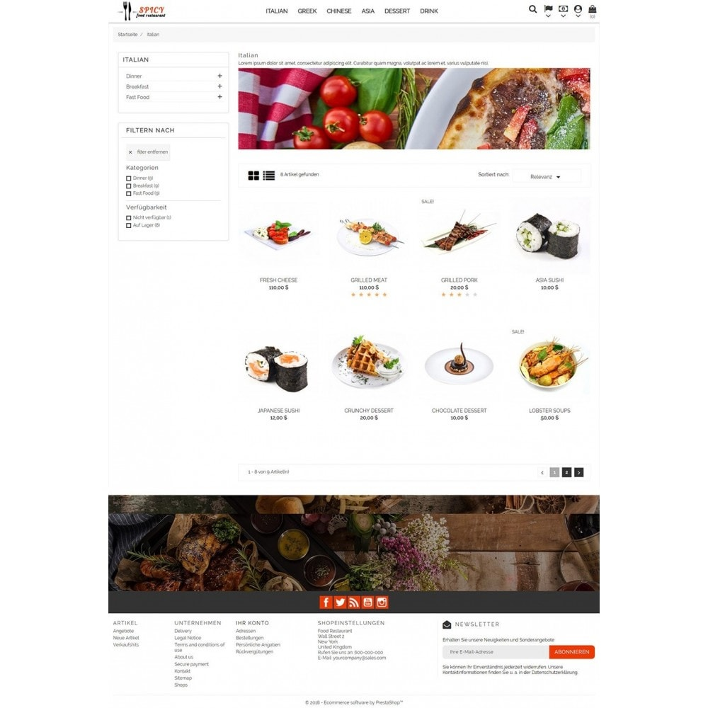 theme - Lebensmittel & Restaurants - Spicy Restaurant - 4