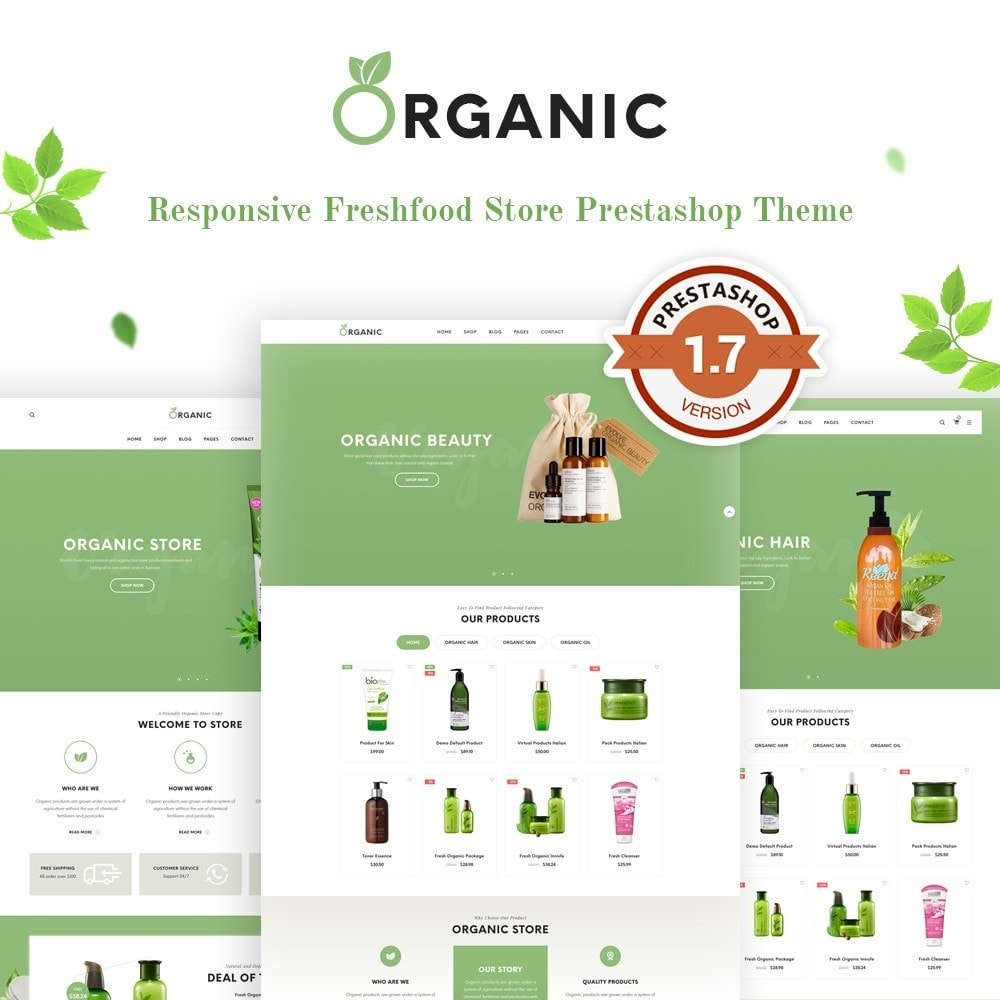 theme - Alimentation & Restauration - Organic Shop - 1