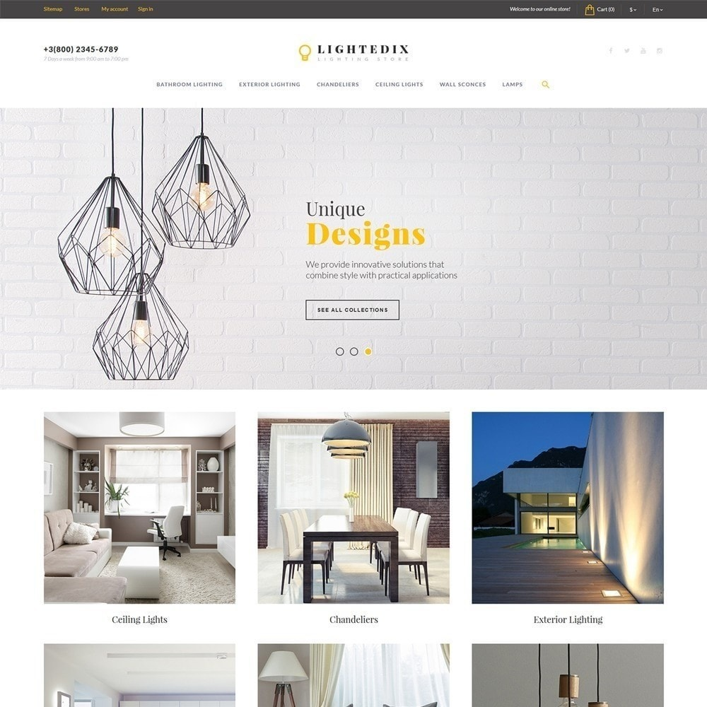 theme - Дом и сад - Lightedix - Lighting Store - 3