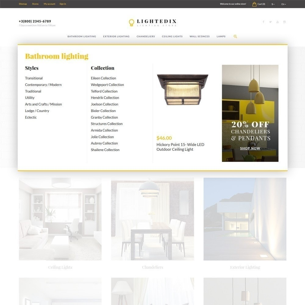 theme - Дом и сад - Lightedix - Lighting Store - 6