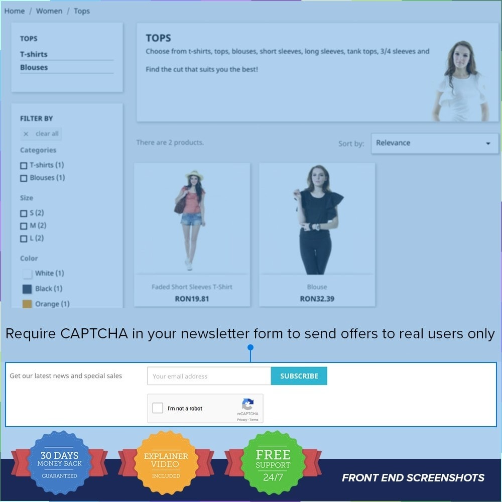 module - Security & Access - reCAPTCHA PRO - Simple - Secure - 2