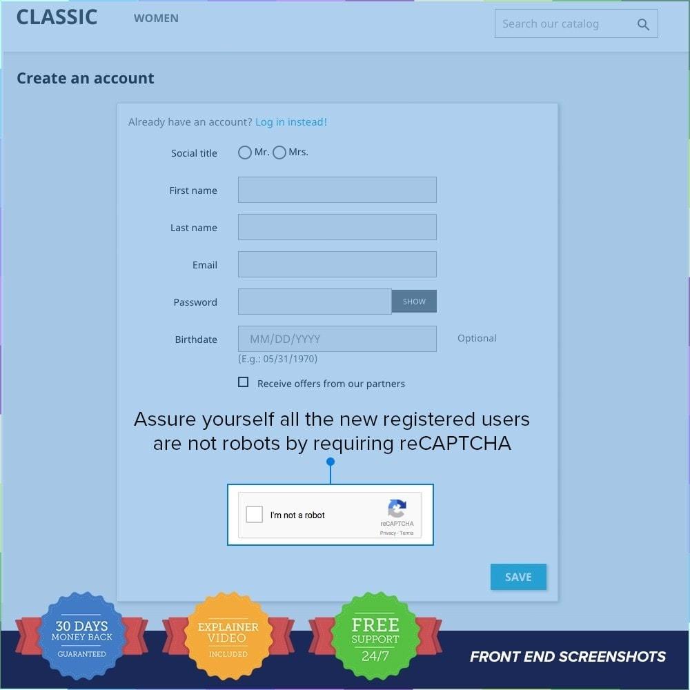 module - Segurança & Acesso - reCAPTCHA PRO - Simple - Secure - 3