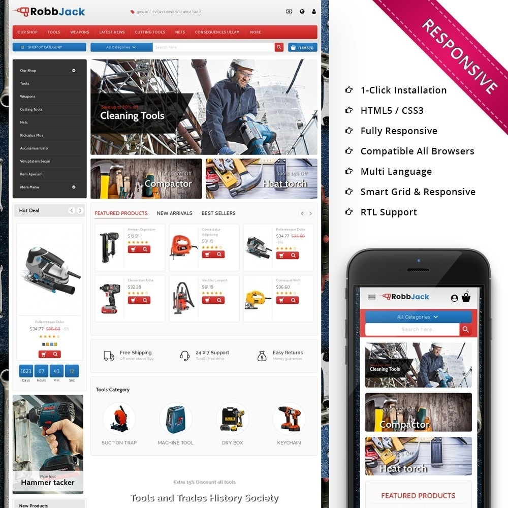 theme - Coches y Motos - Robbjack Tool Store - 1