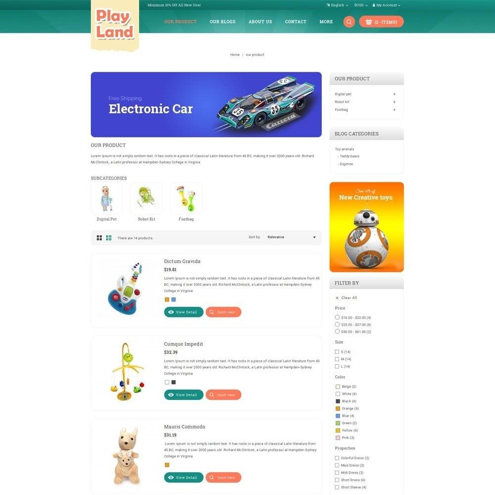 theme - Zabawki & Artykuły dziecięce - Playland - Kids Shop - 5