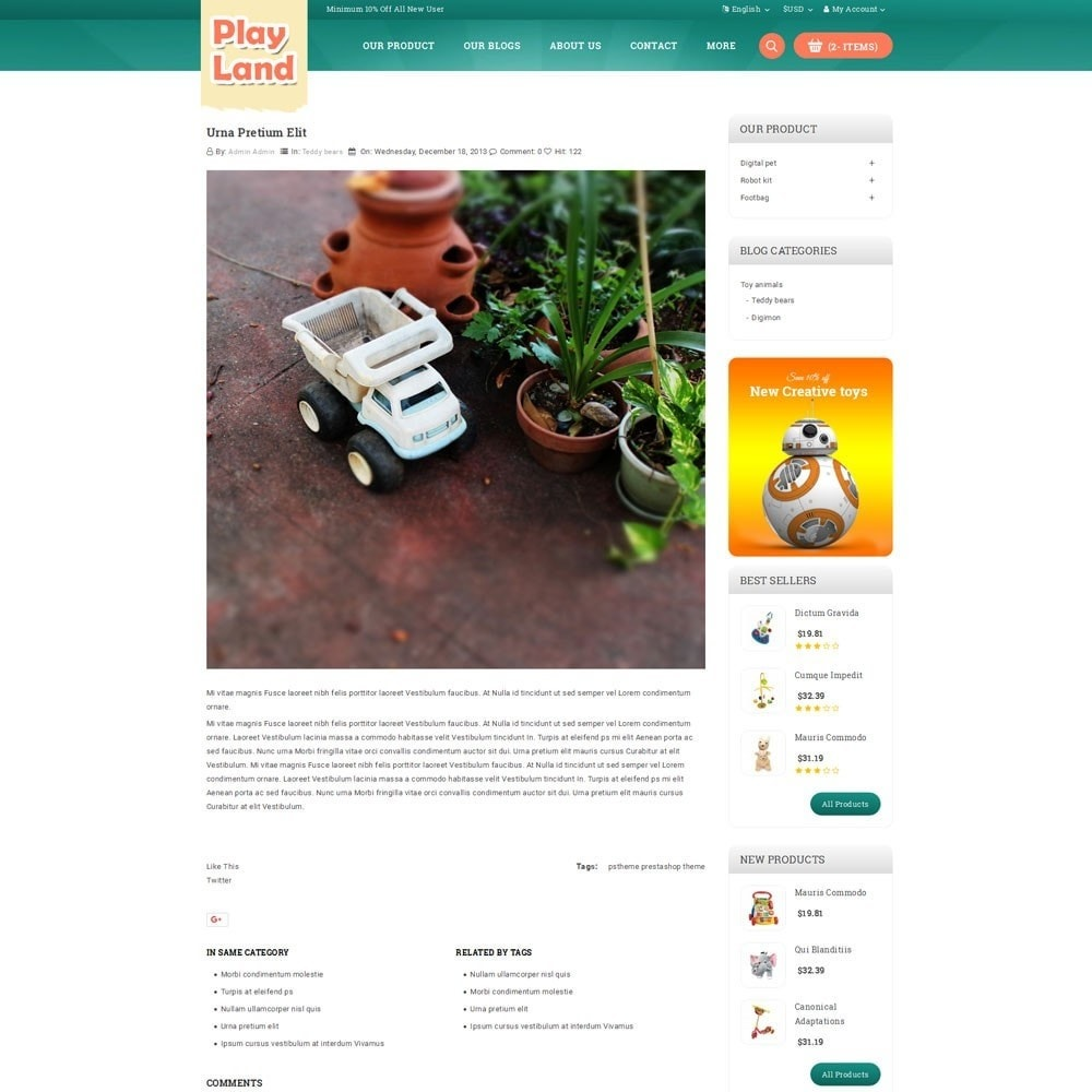theme - Niños y Juguetes - Playland - Kids Shop - 7