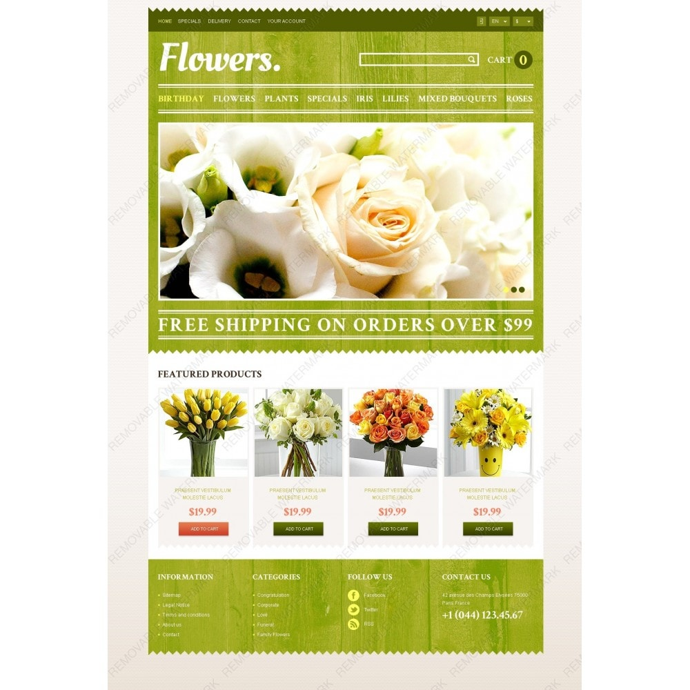 theme - Gifts, Flowers & Celebrations - Responsive Flowers Store - 3