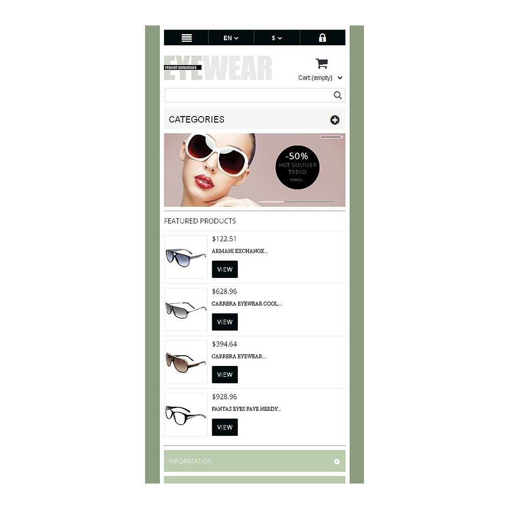 theme - Moda & Calzature - Responsive Eyewear Store - 9