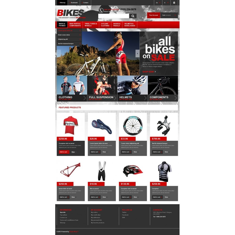 theme - Sports, Activities & Travel - Responsive Bikes Store - 2