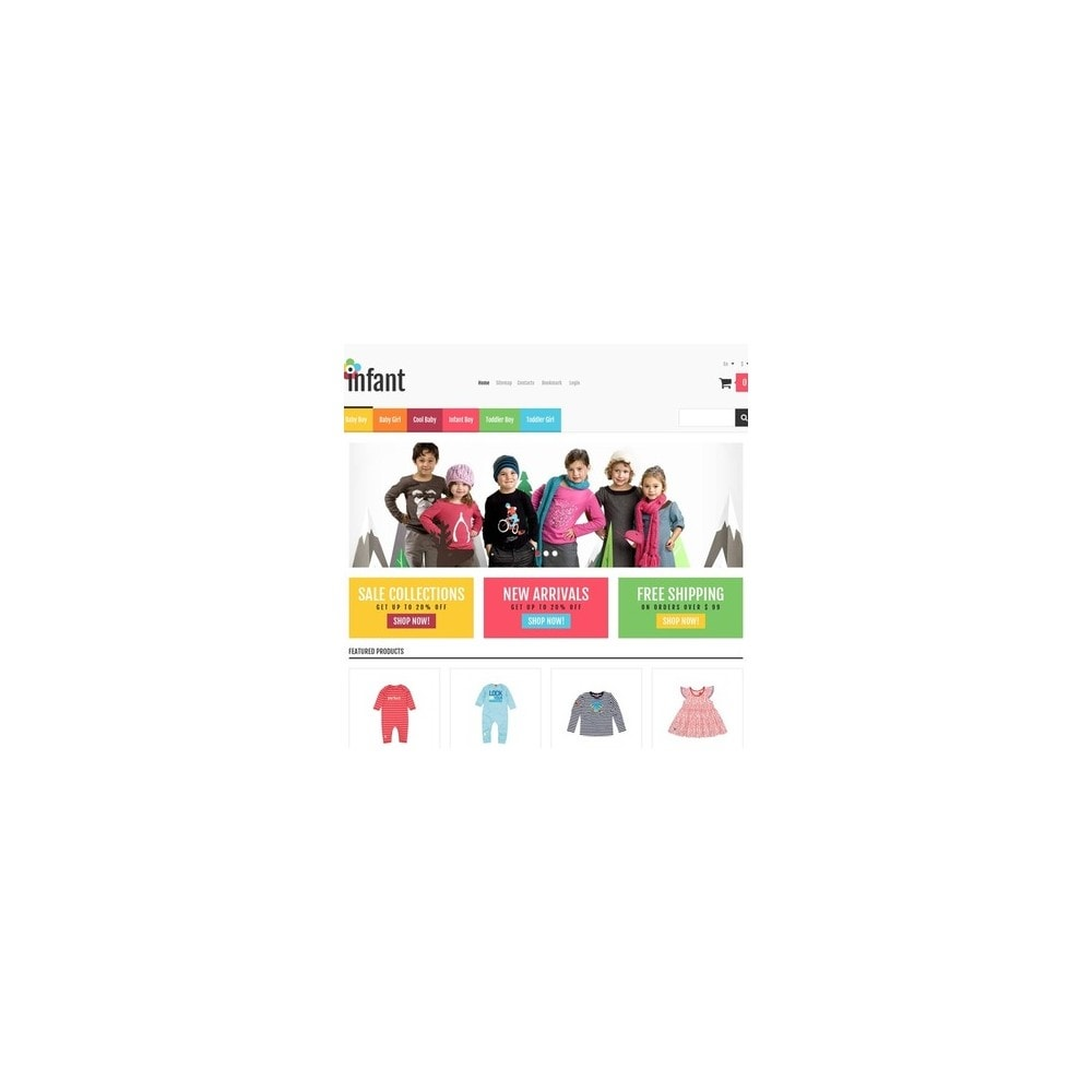 theme - Moda & Calzature - Responsive Infant Shop - 3