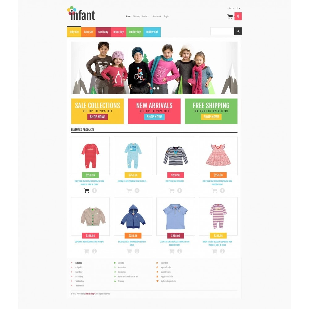 theme - Moda & Calzature - Responsive Infant Shop - 5