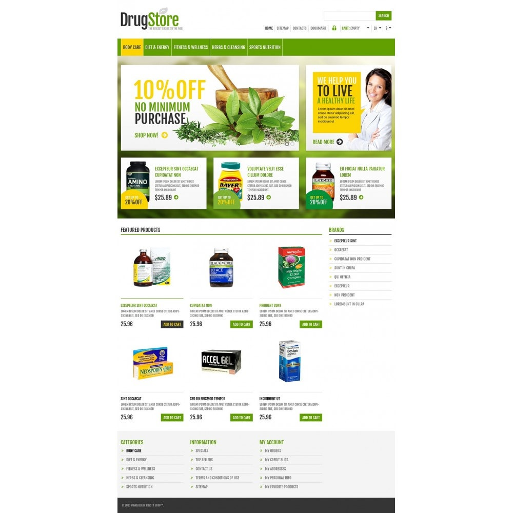 theme - Health & Beauty - Responsive Drug Store - 2
