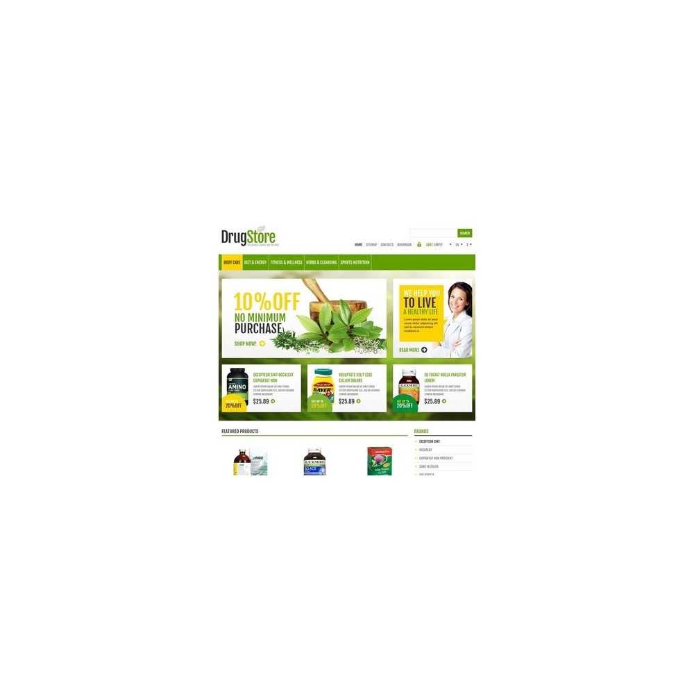 theme - Health & Beauty - Responsive Drug Store - 3