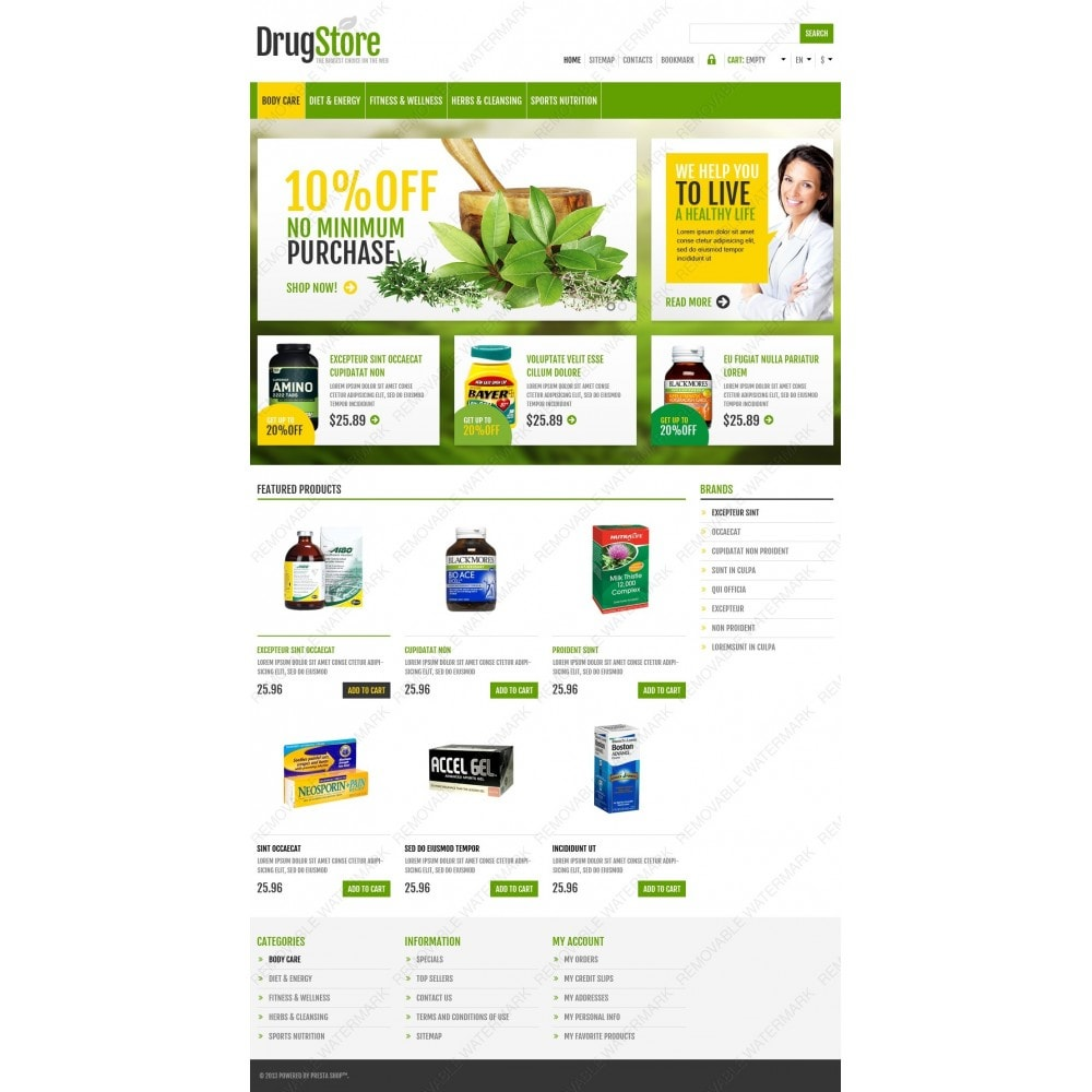 theme - Health & Beauty - Responsive Drug Store - 4