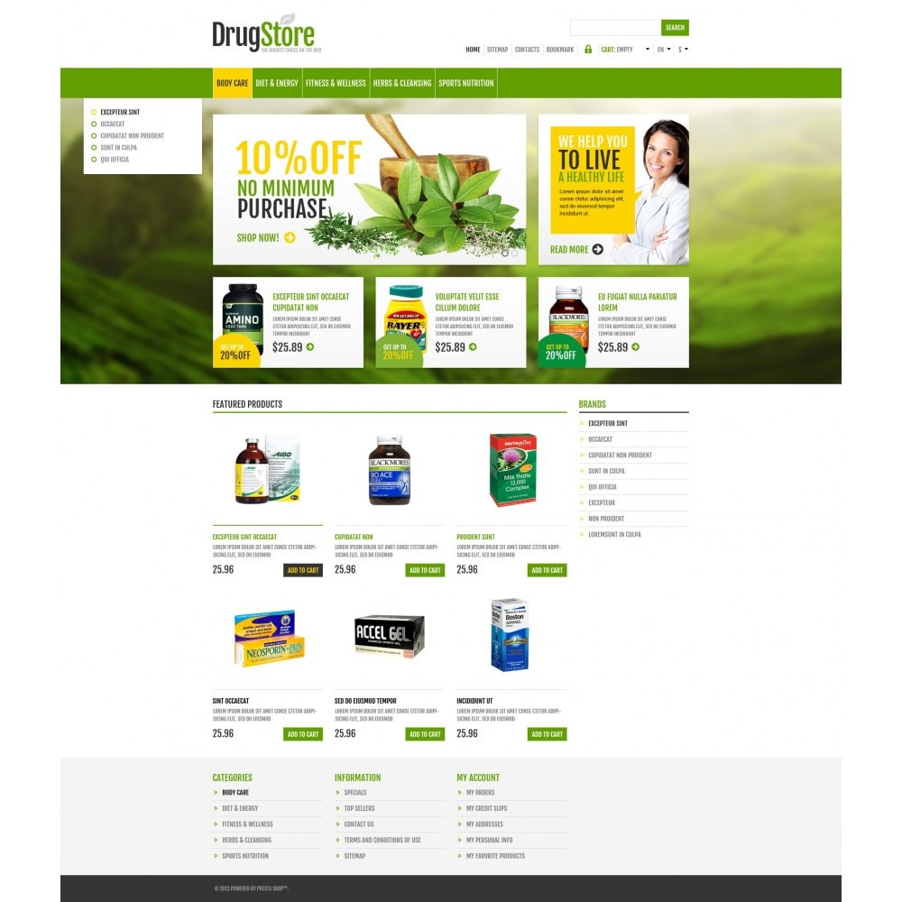 theme - Health & Beauty - Responsive Drug Store - 5
