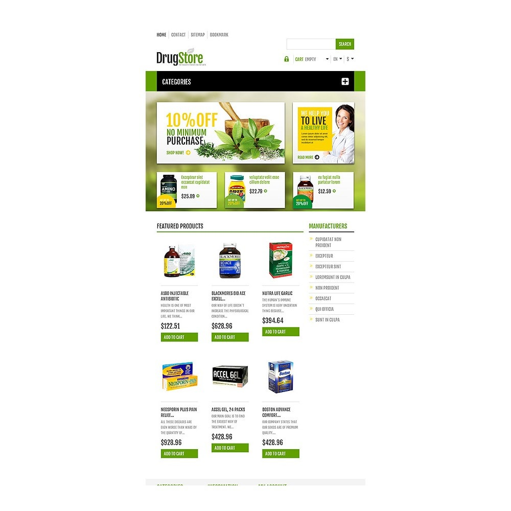 theme - Health & Beauty - Responsive Drug Store - 8