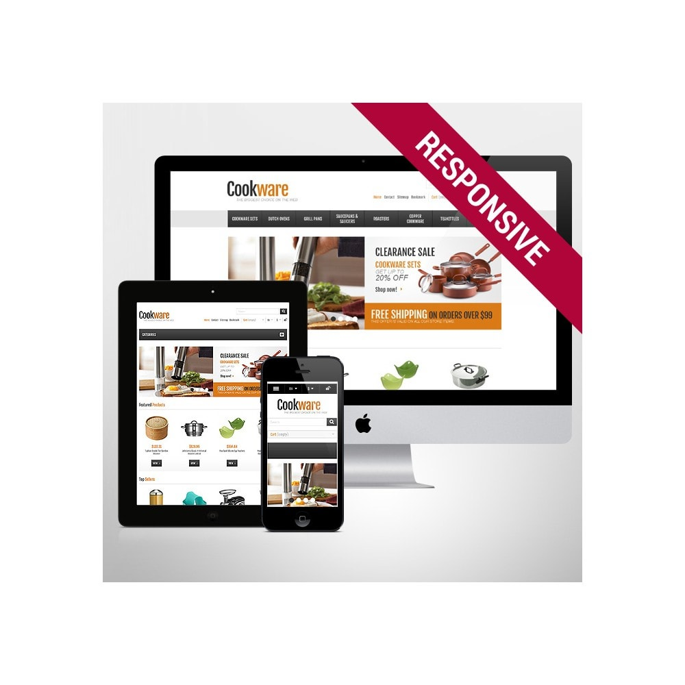 theme - Искусство и Культура - Responsive Cookware Shop - 1