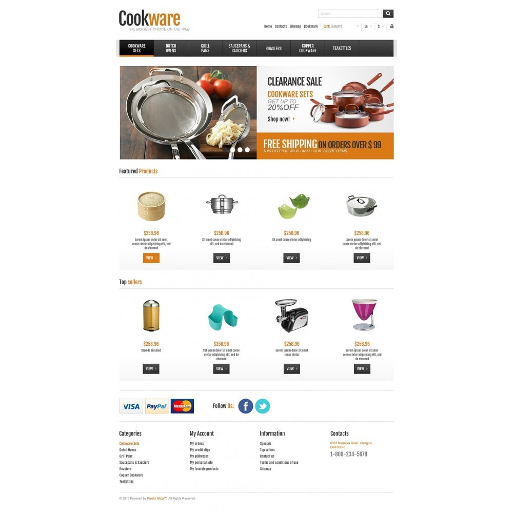 theme - Искусство и Культура - Responsive Cookware Shop - 2
