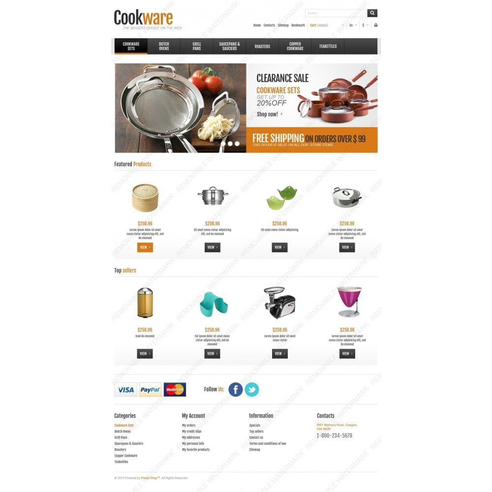 theme - Искусство и Культура - Responsive Cookware Shop - 4