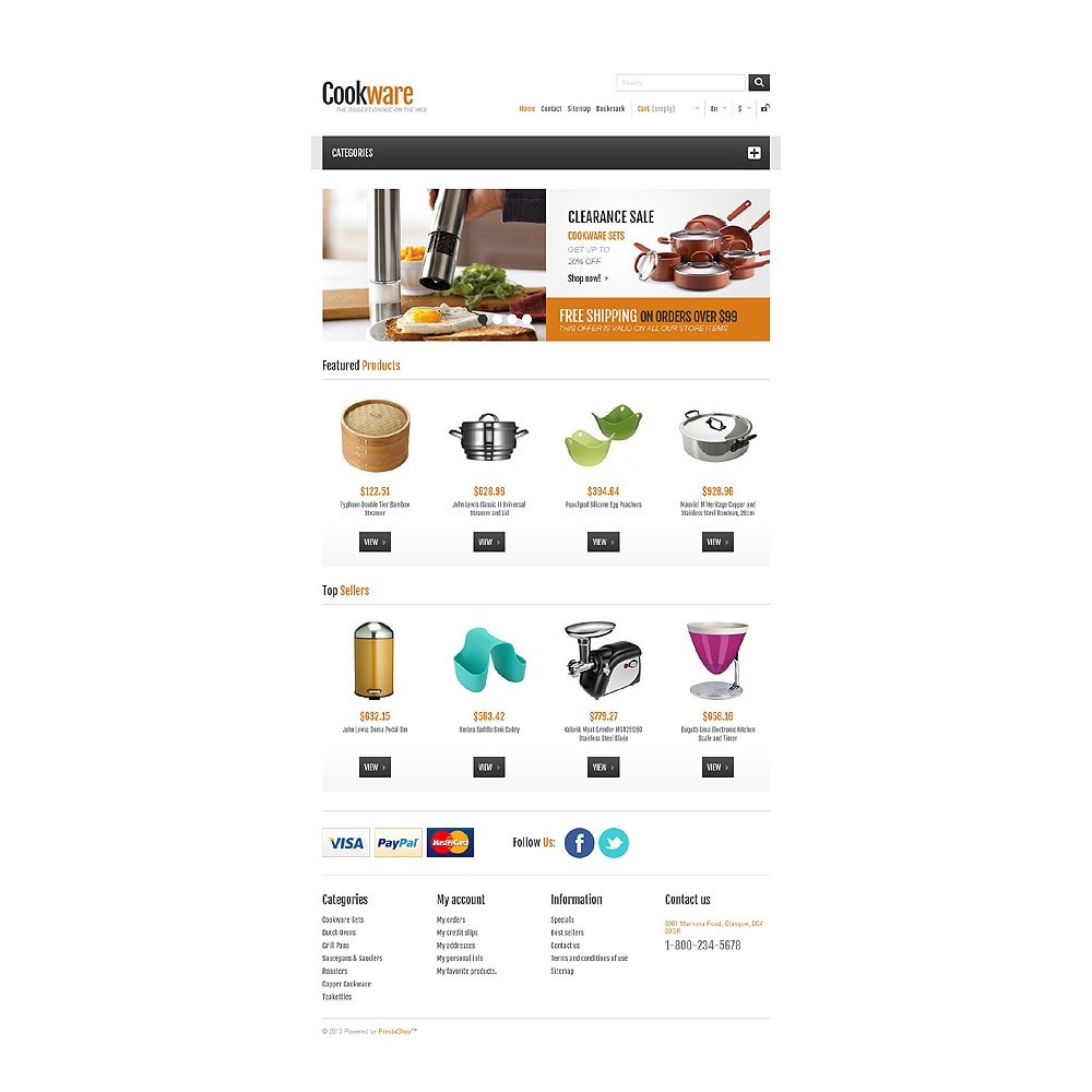 theme - Искусство и Культура - Responsive Cookware Shop - 8