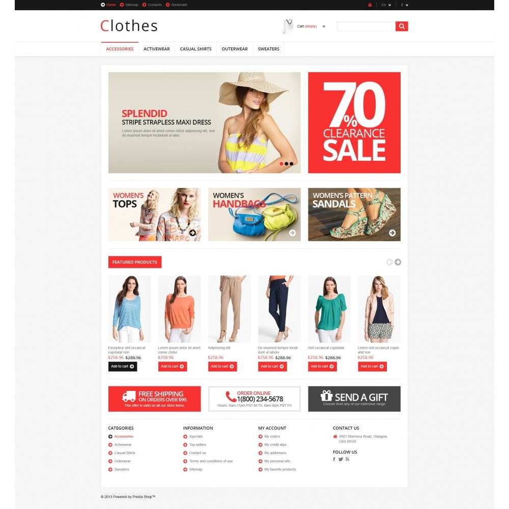 theme - Fashion & Shoes - Responsive Clothing Store - 5
