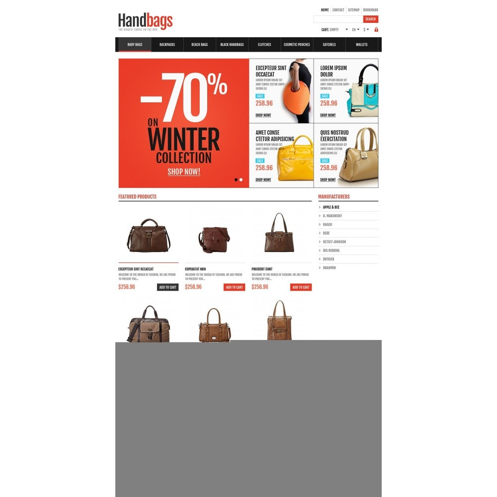 theme - Moda & Calzature - Responsive Handbags Store - 2